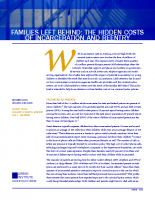 Hidden Costs to Families Left Behind