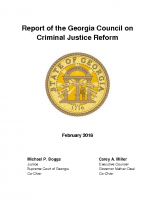 2018 Report of the GA Council on Criminal Justice Reform