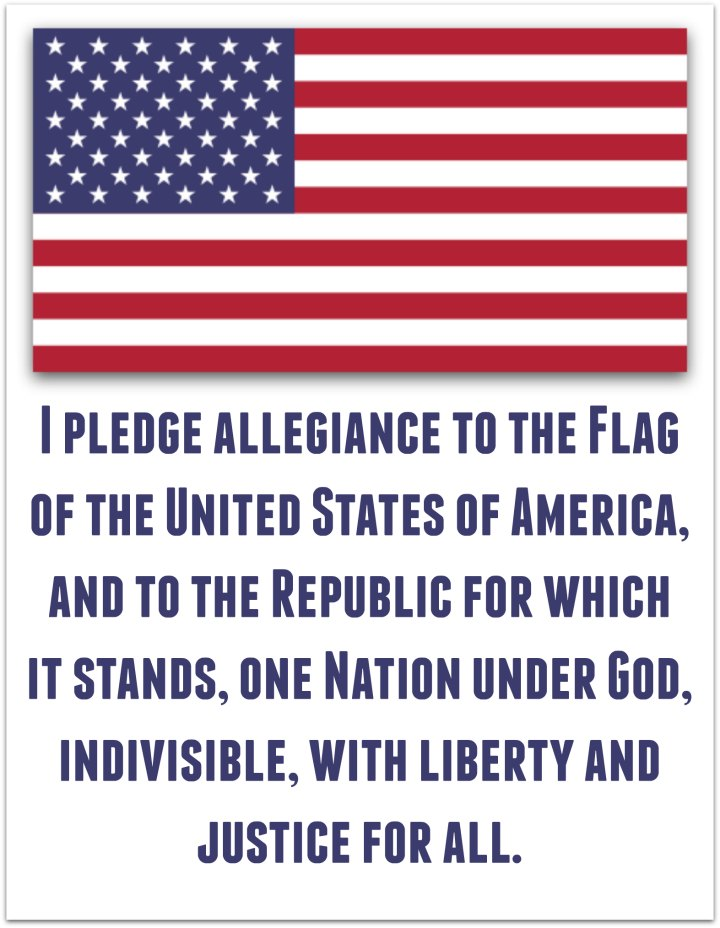 pledge american flag