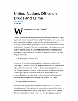 United Nations Presents Position on Prison Reform