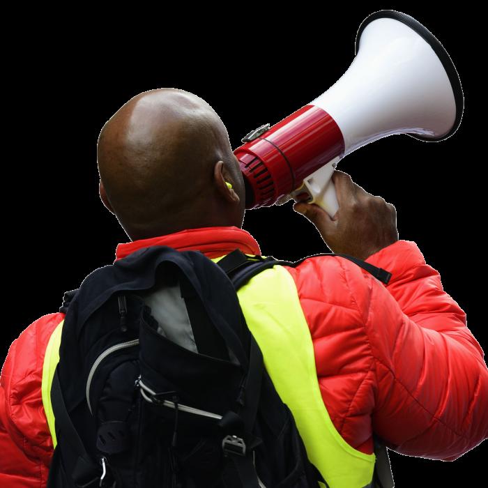 activist-with-megaphone