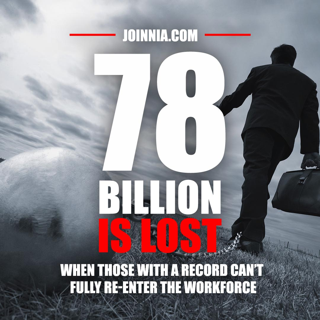 78 Billion is lost when those with a criminal record cannot fully re-enter the workforce - The National Incarceration Association